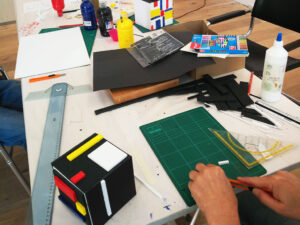 Piet Mondrian Würfel