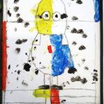 Minion im Piet Mondrian Stil