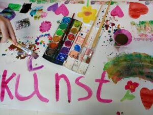 Farbenfrohe Kunst