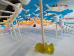 paraboloide Fläche künstlerisch ausgeschmückt