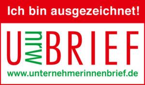 Ausgezeichnet mit dem Unternehmerinnen Brief des Landes NRW