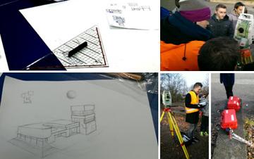 Gebäude analysieren und skizzieren