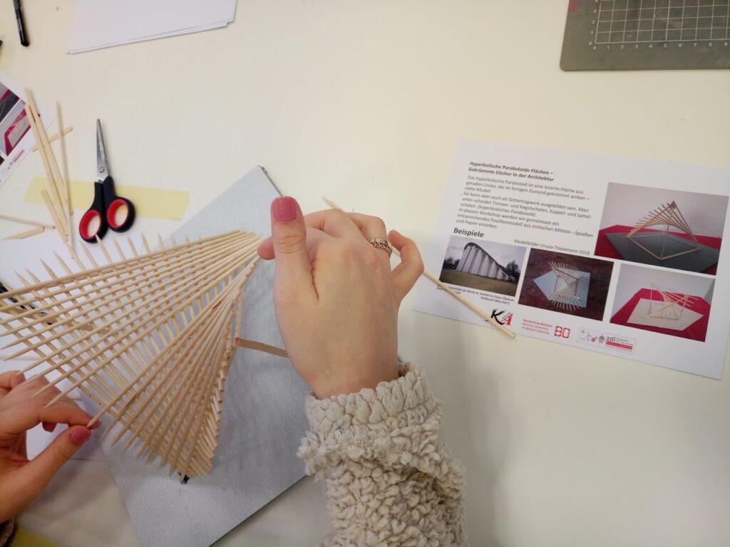 Paraboloide Flächen konstruieren