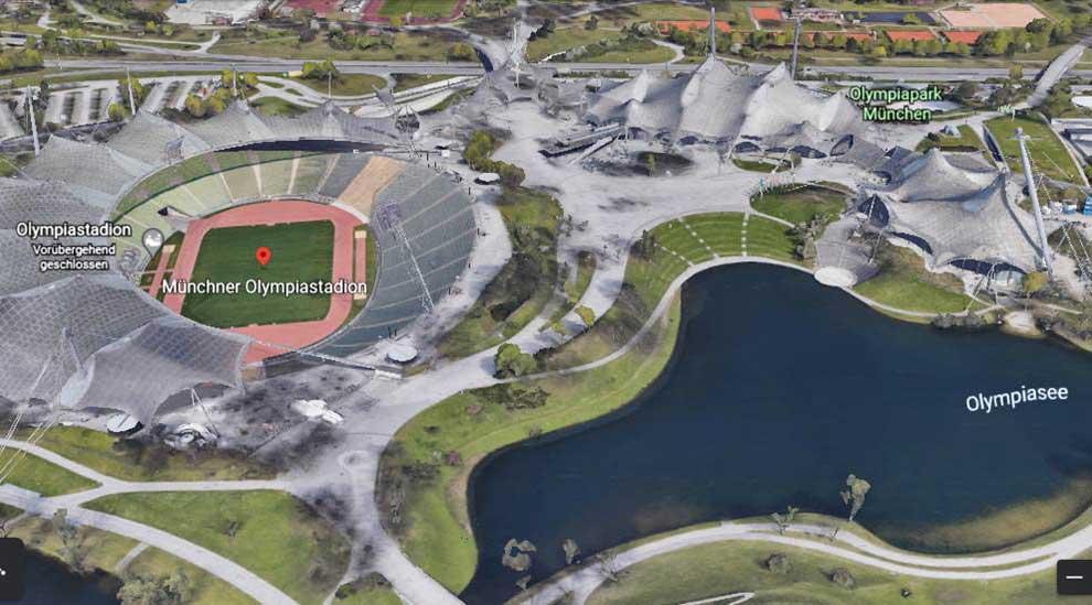 Olympia-Stadion München Google-Earth